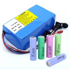 بطارية ليثيوم 18650 48V 12AH 48V 500W بطارية الدراجة الكهربائية مع BMS