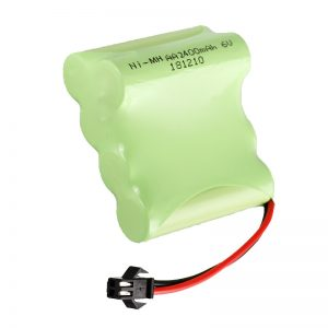 بطارية NiMH قابلة لإعادة الشحن AA2400 6V أدوات ألعاب كهربائية قابلة لإعادة الشحن حزمة بطارية