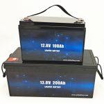 دورة عميقة بطارية LiFePO4 الشمسية 12V 100Ah / 200Ah عربة الجولف بطارية ليثيوم أيون