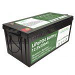 حار بيع 2.56KWh lifepo4 batteri 12v 200Ah 6000 دورات rv بطارية
