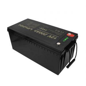 تصميم جديد بطاريات قابلة للشحن صيانة مجانية LiFePO4 12V 200Ah بطاريات ليثيوم أيون