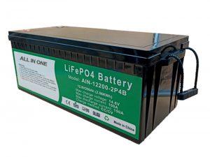 الكل في واحد 2.56 كيلو واط في الساعة 2000 دورات 12 فولت بطارية lifepo4 200ah حزمة الليثيوم للسيارة الكهربائية