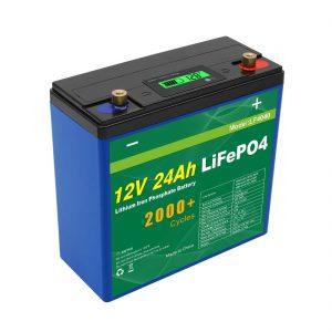 دورة الطاقة الشمسية العميقة 24v 48v 24ah Lifepo4 Battery Pack UPS 12v 24ah Battery