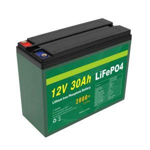 بطارية OEM قابلة للشحن 12V 30Ah 4S5P Lithium 2000+ Deep Cycle Lifepo4 Cell Manufacturer
