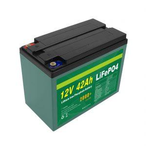 صيانة مخصصة للطاقة الشمسية 12 فولت 40ah 42ah حزمة بطارية Lifepo4 خلية Lifepo4 مع BMS