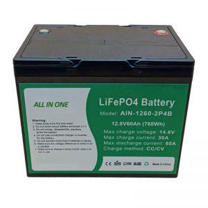 الكل في واحد أسطواني 2000 دورة بطارية ليثيوم 12v60Ah حزمة بطارية لتخزين الطاقة