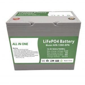 بيع المصنع 12.8V60Ah بطارية منزلية بلاستيكية 2000 دورة lifepo4 بطارية 12 فولت للطاقة المنزلية