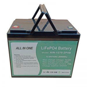 قابلة لإعادة الشحن 896Wh بطارية Lifepo4 12V 70Ah للسيارات الكهربائية