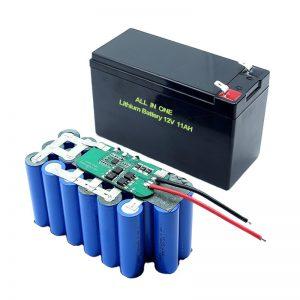 الكل في واحد 18650 3S5P 12Volt بطارية ليثيوم 11Ah بطارية ليثيوم قابلة لإعادة الشحن