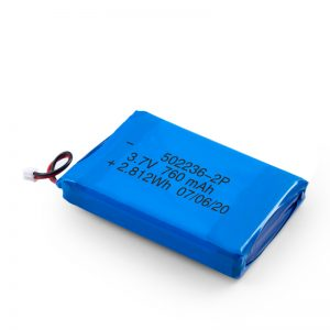 بطارية ليثيوم قابلة للشحن 502236 3.7 فولت 380 مللي أمبير / 3.7 فولت 760 مللي أمبير / 7.4 فولت 380 مللي أمبير