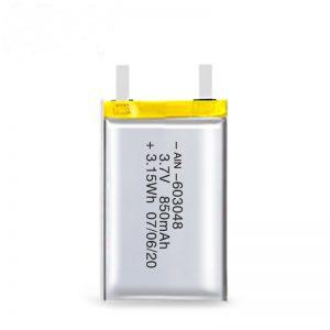 بطارية ليثيوم قابلة للشحن 603048 3.7 فولت 850 مللي أمبير / 3.7 فولت 1700 مللي أمبير / 7.4 فولت 850 مللي أمبير