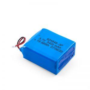 بطارية ليثيوم قابلة للشحن 624948 3.7 فولت 1800 مللي أمبير / 3.7 فولت 5400 مللي أمبير