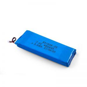 بطارية LiPO القابلة لإعادة الشحن 651648 3.7 فولت 460 مللي أمبير / 3.7 فولت 920 مللي أمبير / 7.4 فولت 460 مللي أمبير