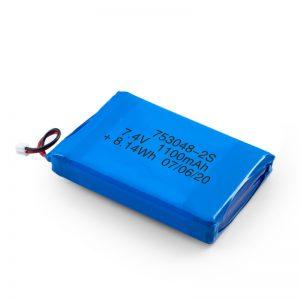 بطارية ليثيوم قابلة للشحن 753048 3.7 فولت 1100 مللي أمبير / 7.4 فولت 1100 مللي أمبير / 3.7 فولت 2200 مللي أمبير