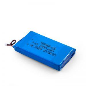 بطارية LiPO القابلة لإعادة الشحن 783968 3.7 فولت 4900 مللي أمبير / 7.4 فولت 2450 مللي أمبير / 3.7 فولت 2450 مللي أمبير /