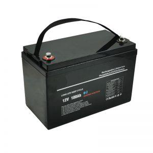 درجة حرارة منخفضة LiFePO4 12V 100AH