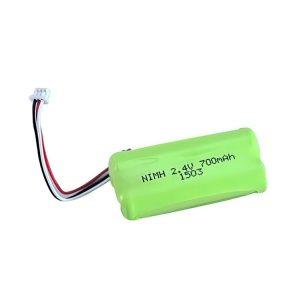 بطارية NiMH قابلة لإعادة الشحن AA700 2.4 فولت