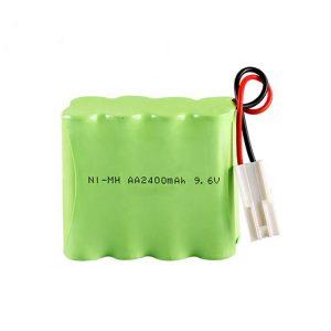 بطارية NiMH قابلة لإعادة الشحن AA2400 9.6 فولت