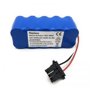 بطارية ni-mh 12 فولت للمكنسة الكهربائية TEC-5500 ، TEC-5521 ، TEC-5531 ، TEC-7621 ، TEC-7631